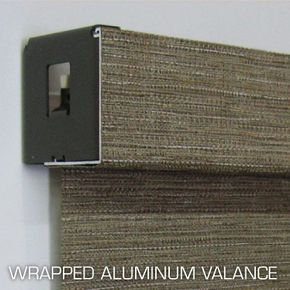 Blinds Of All Kinds - wrapped aluminum valance
